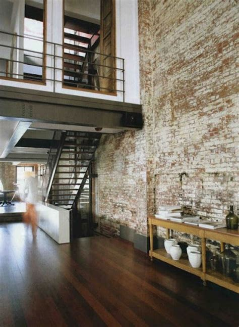 exposed brick wall cool interiors with exposed brick walls home sweet home pinterest