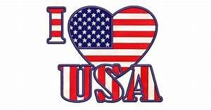 Cowboy Applique Designs I Love Usa American Flag Patriotic Heart Applique Machine