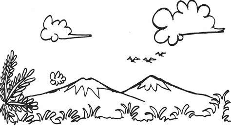 lomba mewarnai pemandangan alam gambar untuk mewarnai anak
