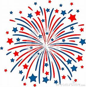 Red White And Blue Fireworks Clipart - Clipart Suggest