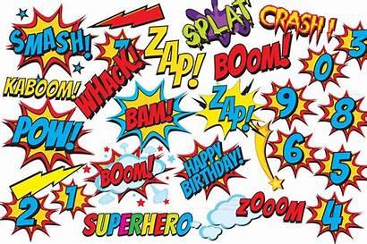 Superhero Comic Clipart Clip Background Border Boom