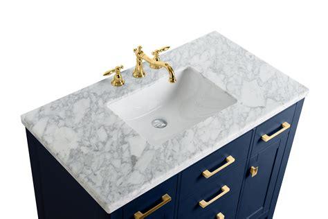 single sink bathroom vanity  blue finish