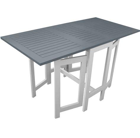 table jardin pliante table de jardin pliante en bois 135 49 37 49 x 65 cm grise cgbur24 achat vente table