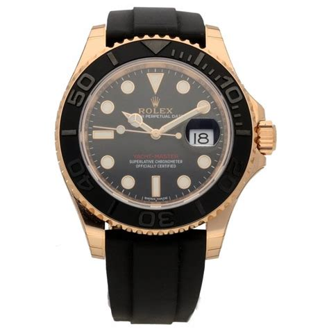 Rolex Yacht-Master 116655 - 18ct Rose Gold - Black Dial ...