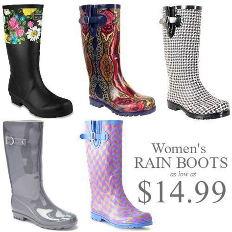 Cute Women's Rain Boots On Sale For As Low As $1499