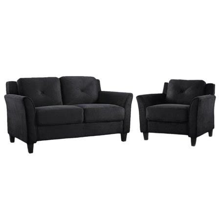 Black Microfiber And Loveseat by Hartford 2 Microfiber Loveseat And Chair Set In