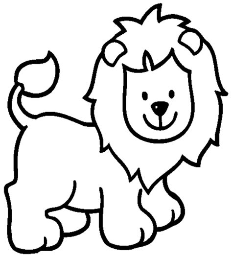 cartoon lion coloring pages getcoloringpagescom