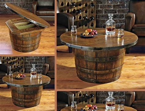 Handmade Round Vintage Oak Whiskey Barrel Table Lenox Christmas Ornament Handprint Tree Party Games For Youth Nude Applique Background Storage Boxes Ornaments Display Stand