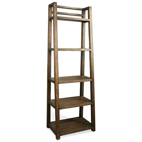 Leaning Bookcase by Riverside Furniture Perspectives 28038 Leaning Bookcase