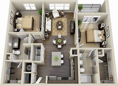 Bedroom Apartment Plans Floor Sims Layouts Plan