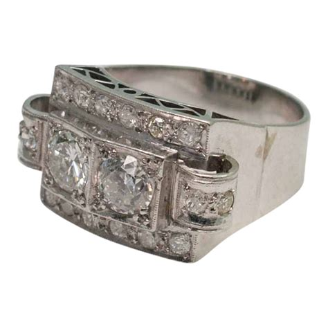 deco platinum ring plaza jewellery