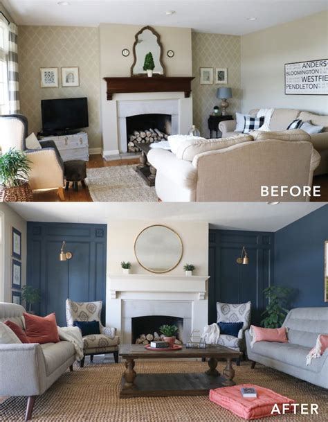 home design before and after living room makeover with the roomplace best