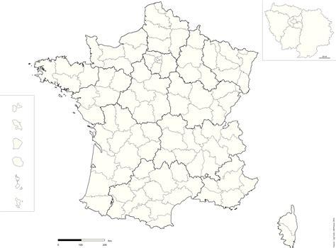 Carte De Region Et Departement Vierge by Departement Echelle Reg Vierge Cap Carto