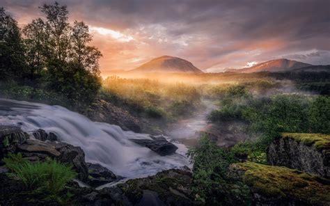 Wonderful Summer Landscape Fauske Norway Desktop Hd ...