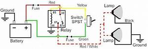 12 Volt Relay Wiring Diagrams Fog Lamp