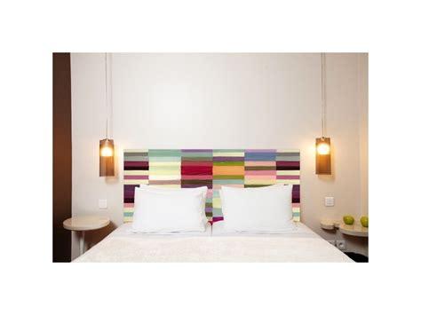 tete de lit en tissu berlingot  fixer au mur sans