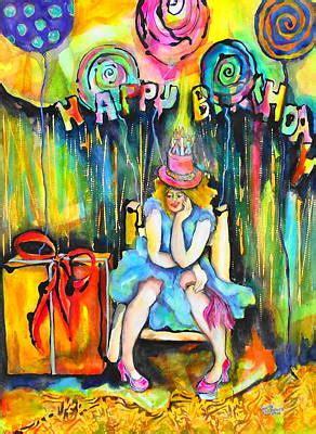 happy birthday painting  claire sallenger martin