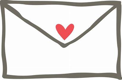 Envelope Clipart Gmail Clip Heart Transparent Blogger