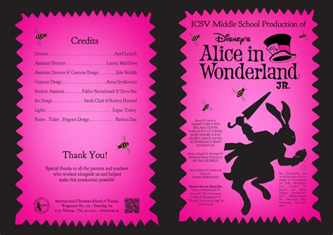Musical Program Template by Middle School Musical Program Design Dax Graphics