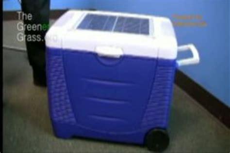 solar powered cooler   cool hot ecofriend