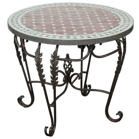 mosaic outdoor side table moroccan round mosaic tile side table indoor or outdoor