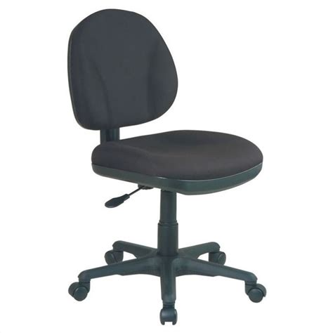 office sculptured task office chair without arms in black