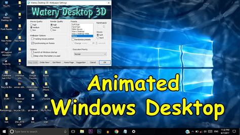 How To Make An Animated Wallpaper Windows 10 - make your windows desktop screen 3d animated watery