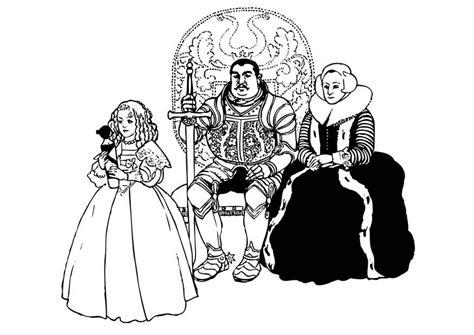 Malvorlage Ritter Mit Familie  Ausmalbild 17384