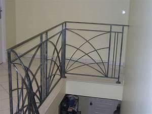 Rambarde Fer Forgé : rf17 rampe d 39 escalier deco design ferronnerie d 39 art ~ Dallasstarsshop.com Idées de Décoration