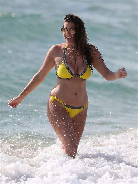 imogen thomas  yellow bikini  spain