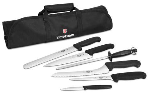 victorinox fibrox pro culinary knife roll set  piece cutlery