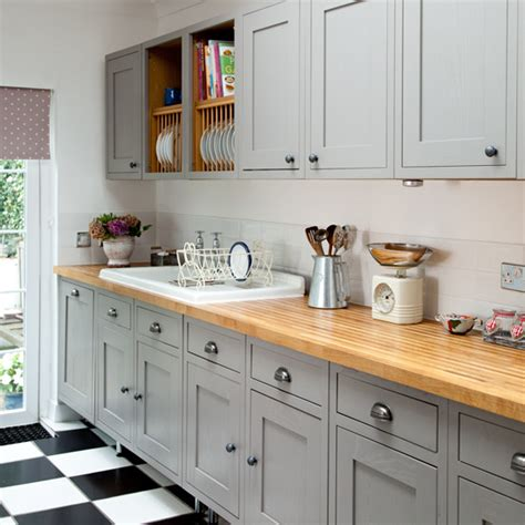 makeover grey country kitchen ideal home