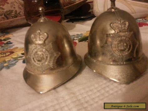 vintage metropolitan police helmet bell  seener bobbie