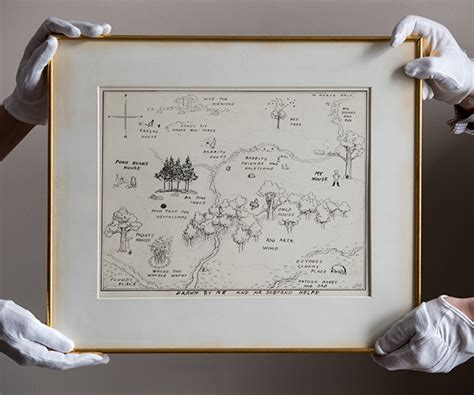 Hundred Acre Wood Original Map Breaks Auction Record