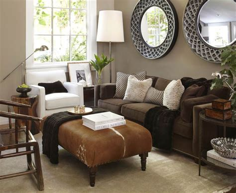 Brown Living Rooms Decorating With Color