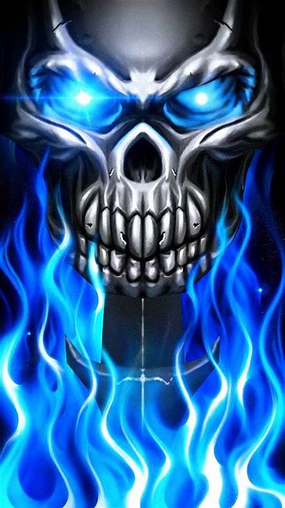Skull Fire Flame Cool Metal Wallpapers Drawing