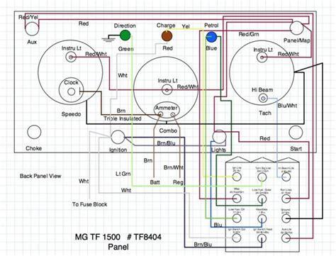 mg tf wiring diagram t series prewar forum mg