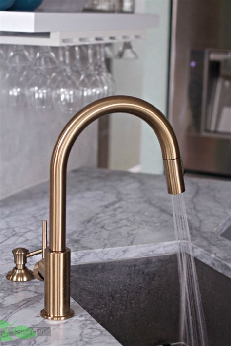 kitchen faucet with soap dispenser delta gold kitchen faucet chic and functional