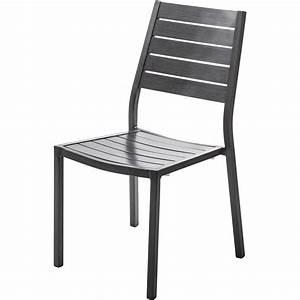 Chaise Leroy Merlin : chaise de jardin en aluminium antibes ice argent leroy ~ Melissatoandfro.com Idées de Décoration