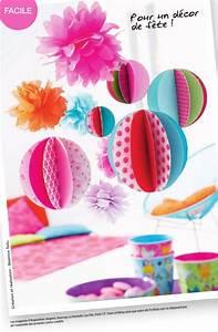 Boule Papier Deco : tuto d co boules en papier coudre creacoton blogcreacoton blog ~ Teatrodelosmanantiales.com Idées de Décoration