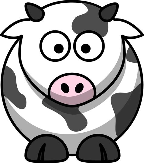 Onlinelabels Clip Art Cartoon Cow
