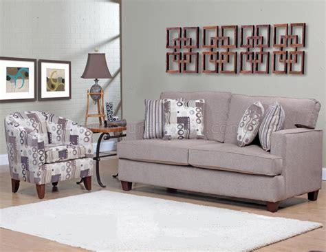 beige fabric modern sofa accent chair set w options