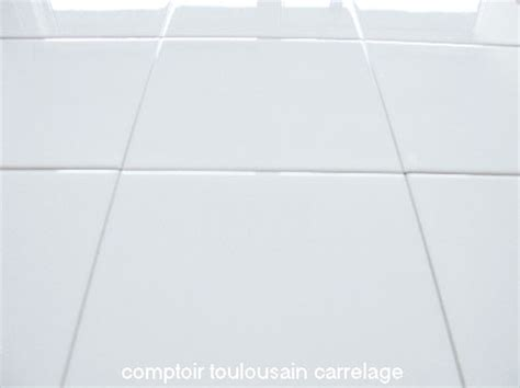 carrelage blanc pas cher carrelage mural blanc brillant 20x20 mainzu carrelage