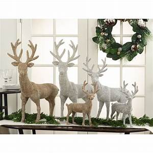 Saro, Studded, Reindeer, Decor, -, Set, Of, 2