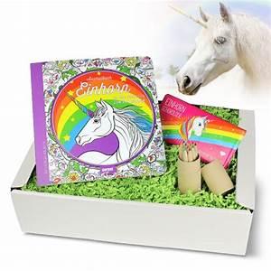 Einhorn Geschenkbox 3 Teilig Mit Malbuch Stiften Schokolade