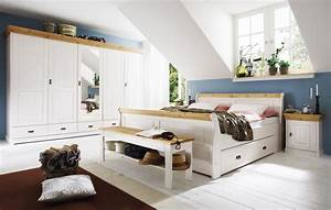 Schlafzimmer Komplett Set : massivholz schlafzimmer set komplett 180x200 kiefer massiv ~ Watch28wear.com Haus und Dekorationen