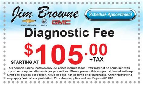 Buick Service Coupons by Service Coupons Jim Browne Chevy Buick Gmc Of Dade City Fl