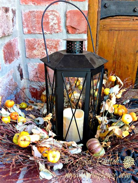 fall lanterns fall lantern cozy yummy fall pinterest
