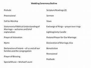 Wedding ceremony rundown wedding ideas for Non religious wedding ceremony outline