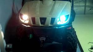 Yamaha Rhino Xentec Hid U0026 39 S Vs  Stock Headlights